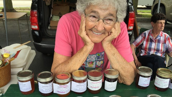 Erma Griffith, of Cold Spring, is founder of Erma's Sweets, a line of jams, jellies and honey. Blackberry jam was summer's favorite at the Dixie Farmers Market.