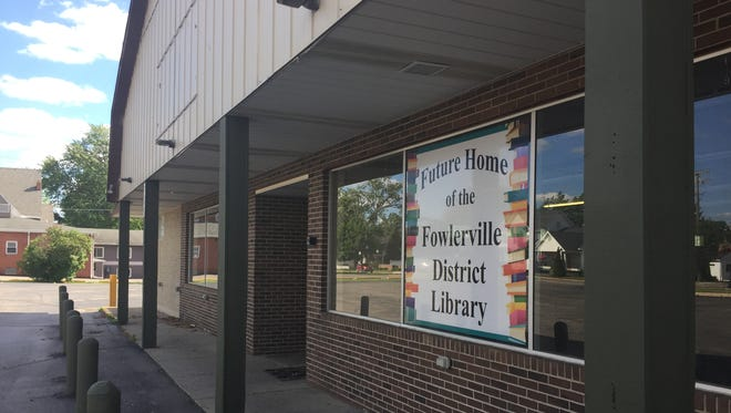 The former Curtis Grocery store building in Fowlerville, seen in this photograph taken Wednesday, May 31, 2017, is now the future home of the Fowlerville District Library.