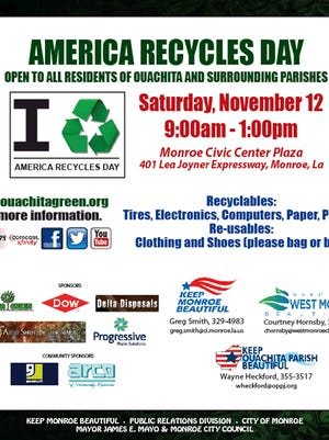 America Recycles Day set for November 12