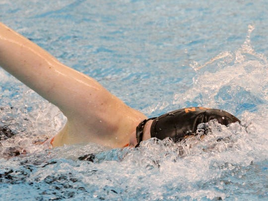 Brighton's Taylor Seaman won four events -- two individual