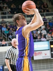 Unioto's Brandon Kennedy shoots during a Division II
