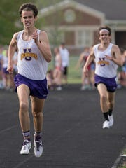 Unioto's long distance runner Tucker Markko took first place in the 1600-meter run with a final time of 4:30.02 at Unioto High School Friday night during the Scioto Valley Conference Track Meet.