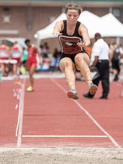 Ridgewood's Alexis Prater competed in the Division III girls long jump Friday at Jesse Owens Memorial Stadium in Columbus. She finished as the state runner-up in the event.