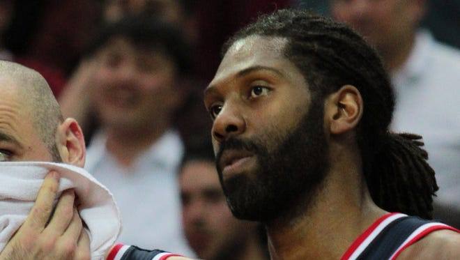 Washington Wizards forward Nene will miss six weeks with knee injury.