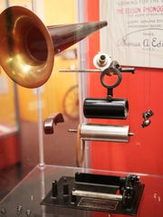 An Edison standard phonograph on display at the Edison