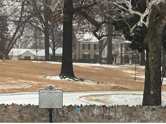 Graceland looks like a winter wonderland as snow and
