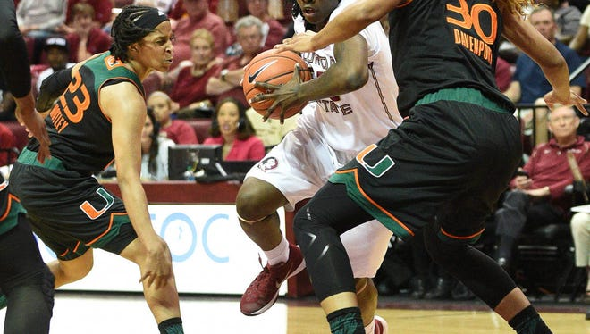 Shakayla Thomas finished with 22 points in Florida State's 70-67 win over Miami.