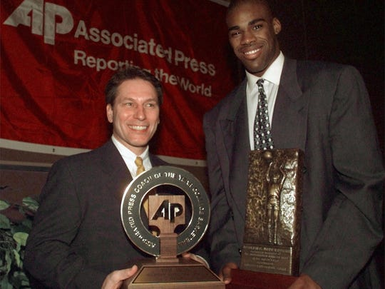 Tom Izzo won the AP College Basketball Coach of the Year award after teh 1997-98 season, a year that began with fans doubting if he was the right coach of the job.