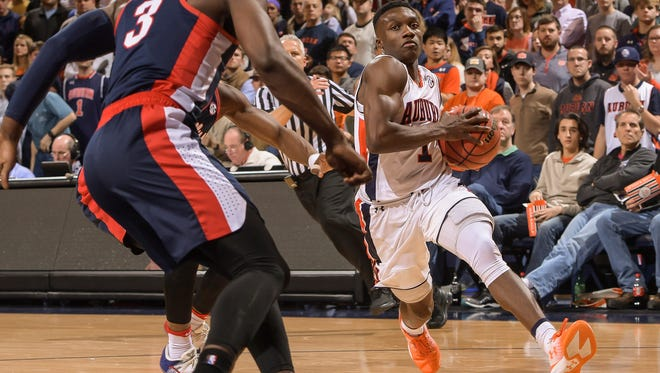 Auburn point guard Jared Harper (1) had a career-high 24 points in a 88-85 loss to Ole Miss on Saturday, Jan. 7, 2017 in Auburn, Ala.