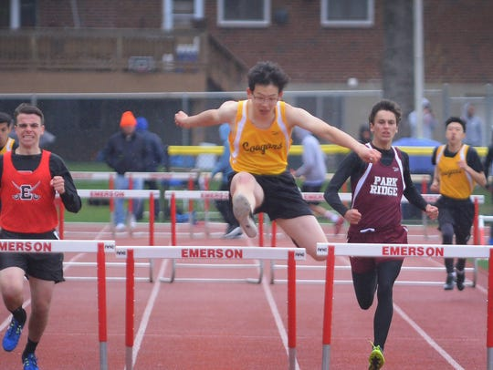 Jae Won Cho of Cresskill, finishes first in 400 meter