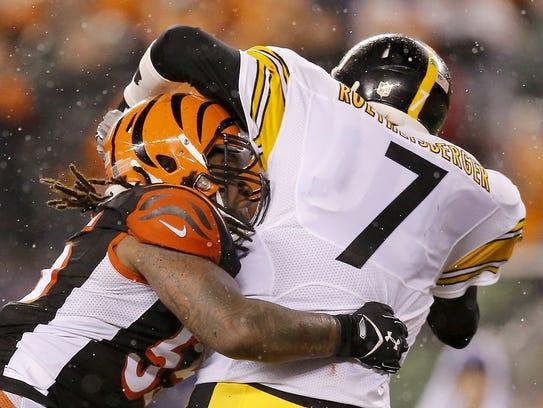 Vontaze Burfict's sack of Pittsburgh Steelers quarterback