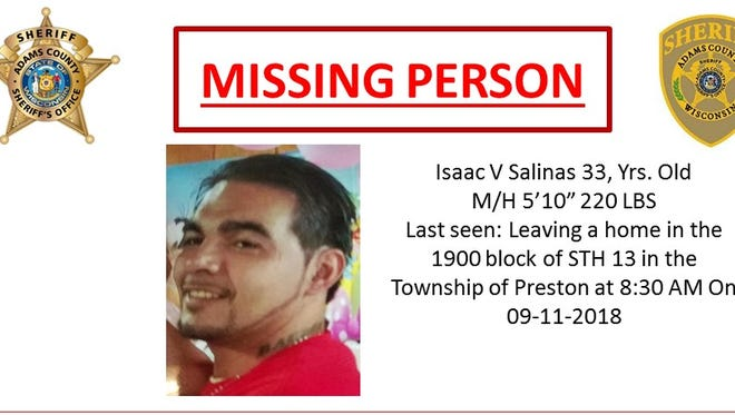 Isaac V. Salinas' body was found Sept. 18, 2017, in Adams County.