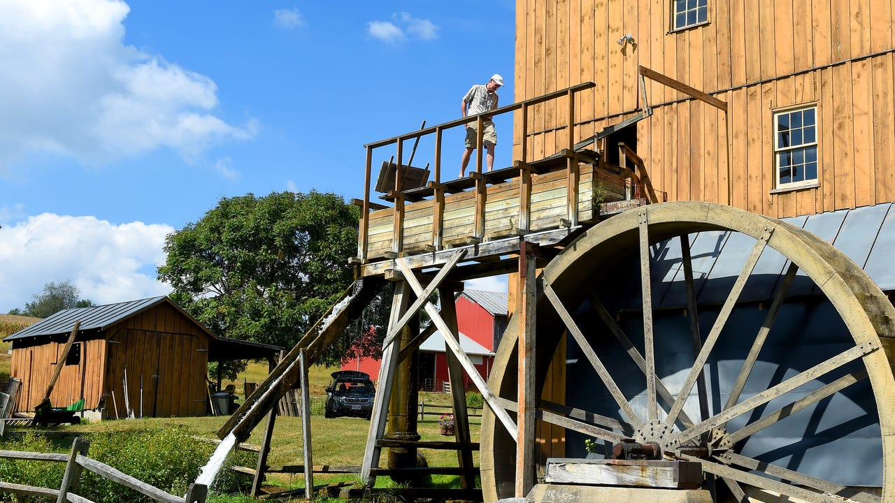 The mill's latest owner moved from England to run the historic mill in the Shenandoah Valley.