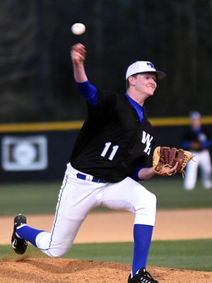 White House High senior Ethan Escue pitched a two-hit shutout in Monday evening's 1-0 win at Greenbrier.