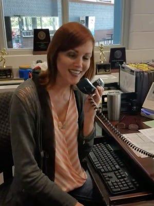 "Regina Ballard sings ""At Last"" at North Lincoln High School on Wednesday."
