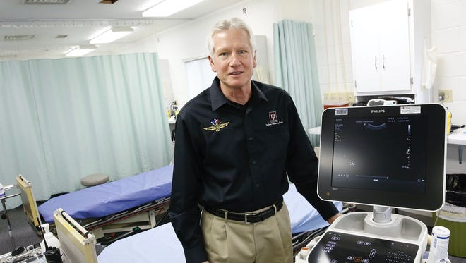 Dr. Geoffrey Billows is the medical director at the Indianapolis Motor Speedway.