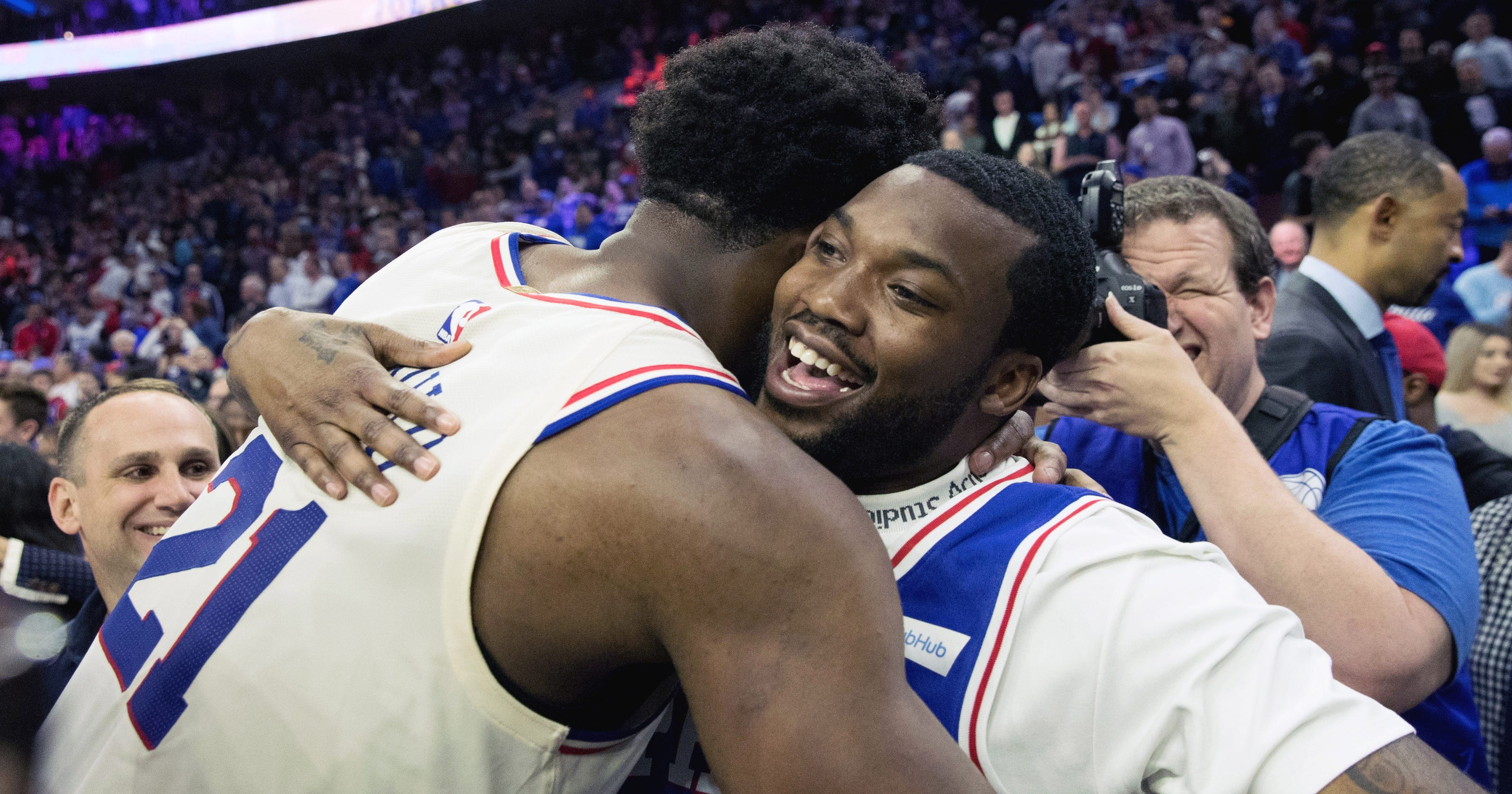 Image result for Meek Mill Not Approved to Travel to Sixers Playoff Game in Toronto