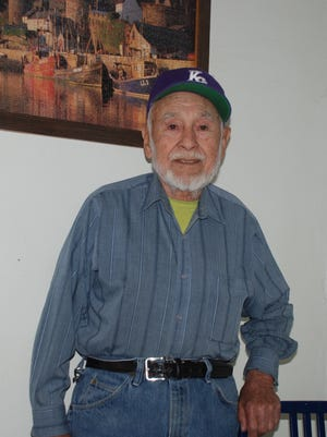 """Roberto Nava, who helped to keep railroad tracks in shape in the Carrizozo area, will celebrate his 94th birthday on June 7. He has many """"ferrocarril"""" (railroad) stories of interest."""