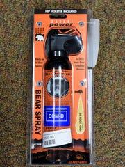 Hiking gear -- bear spray