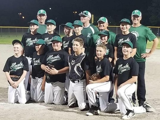 The Livonia Hawks U-12 baseball team finished the 2018 season with an undefeated record (16-0) in the Kensington Valley Baseball & Softball Association.