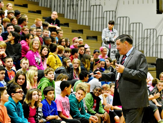 Eastern York Middle School sixth-graders interact with
