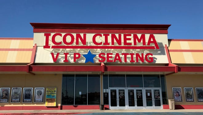 Exterior of Icon Cinema in San Angelo, Texas. Jan. 24, 2018