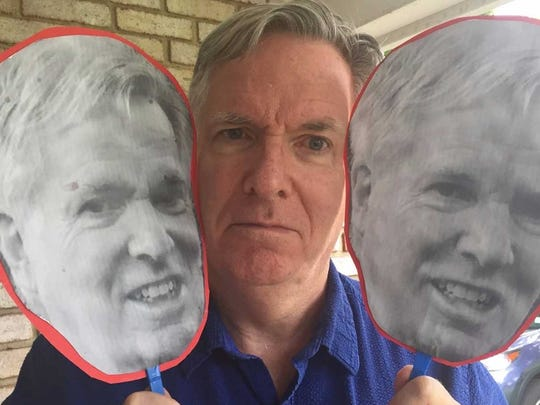These masks accompanied columnist Jim Walsh during a July 4 parade in Haddonfield.