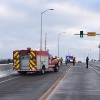 Crash on Bayview Bridge sends one to hospital