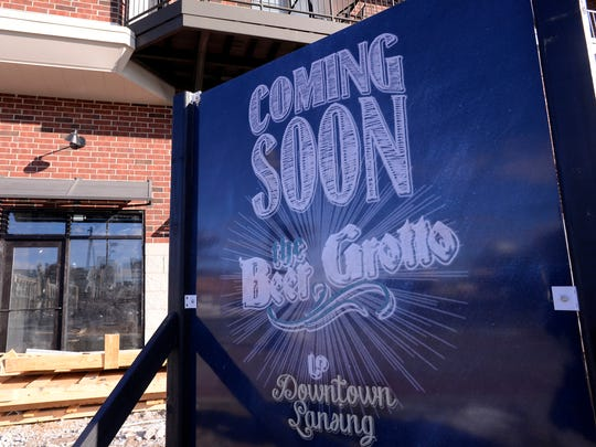 The Beer Grotto under construction in the Stadium District in downtown Lansing Tuesday Jan. 27, 2015.