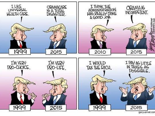 Cartoonist Gary Varvel: Donald Trump debates himself