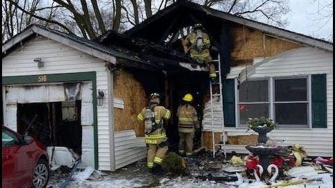 Holland firefighters respond to a house fire on West 20th Street Tuesday, Jan. 5.