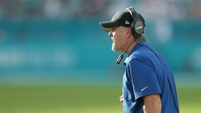 Chuck Pagano's job security is under question following the Colts' disappointing season.