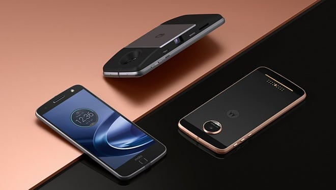 Motorola's Moto Z Droid line includes compatibility with Motomods such as a Lenovo projector.