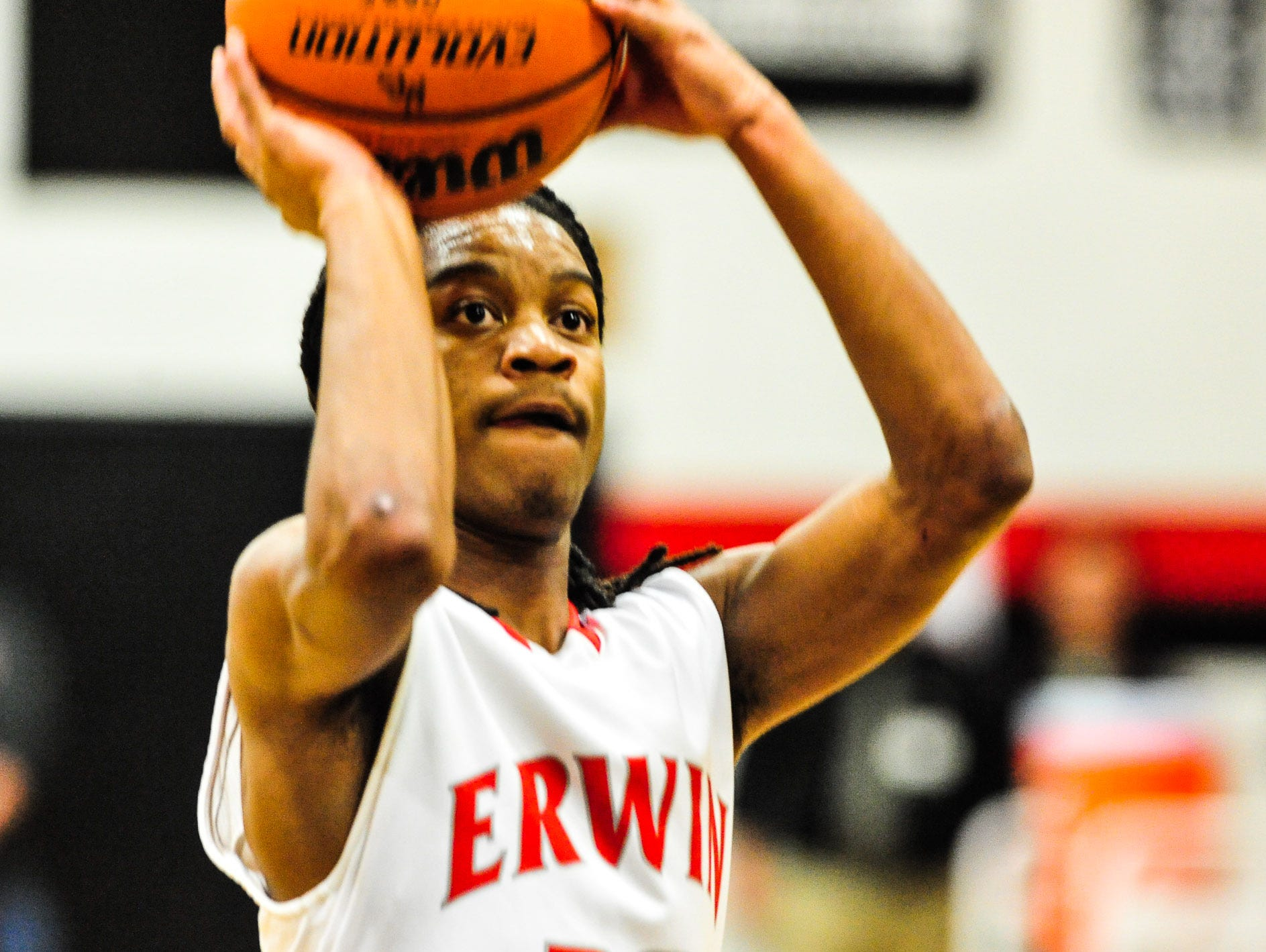 Erwin basketball player C.J. Thompson. The Warriors will host a youth camp next month at the high school.