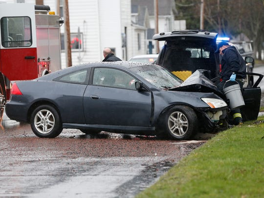 Elmira police are investigating a car crash on Sullivan Street in the city Thursday afternoon. The vehicle appears to have hit a tree between Linden Place and Carpenter Street.
