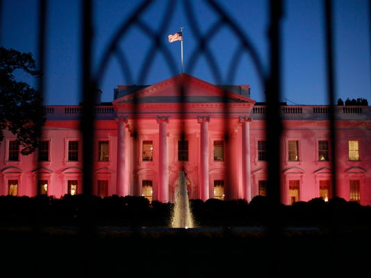 AP Pink White House