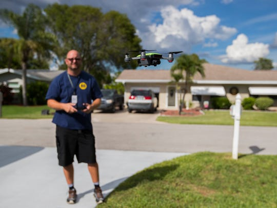 Cape Coral resident Frank Jensen is a certified commercial home inspector who specializes in the use of drones to complete his assessments.