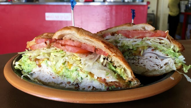 The Turkey Guacamole croissant is a Hot Dish from Brown Bag Sandwich Shop in North Fort Myers.