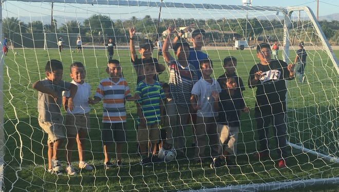 Children from the eastern Coachella Valley community of Oasis will now have a place to play soccer after the first field was opened on Sept. 8, 2016.