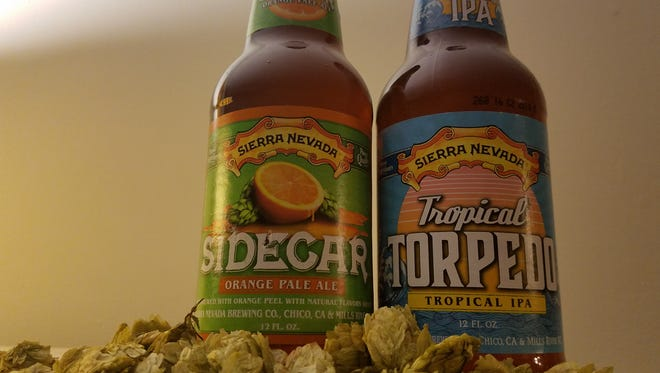 Sidecar and Tropical Torpedo are riffs on the familiar pale ale and IPA.
