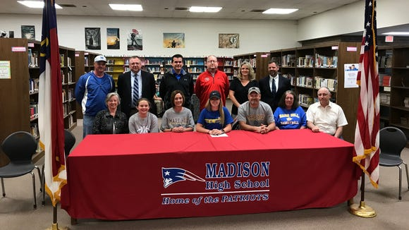 Madison senior Brooke Vilcinskas has signed to play college basketball for Mars Hill.