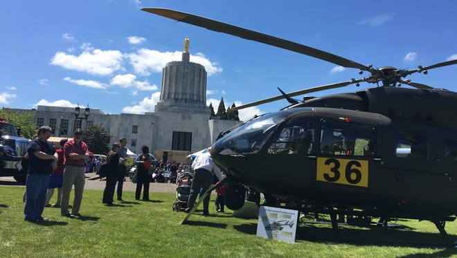 Armed Forces Day is celebrated at the Oregon State Capitol on Thursday, May 18, 2017.