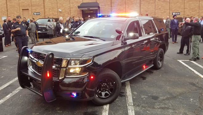 The Bergen County Prosecutor's Office and Sheriff's Office's Chevrolet SUVs for regional SWAT team patrol units.
