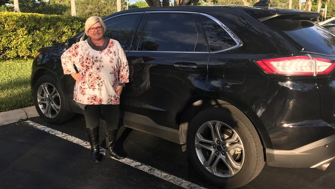 Valerie Cusco of Hollywood, Fla., used the AutoGravity app to get financing preapproval for this 2017 Ford Edge Titanium.