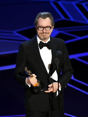 Actor Gary Oldman accepts Best Actor for 'Darkest Hour' onstage during the 90th Annual Academy Awards at the Dolby Theatre at Hollywood & Highland Center on March 4, 2018 in Hollywood, California.  (Photo by Kevin Winter/Getty Images)