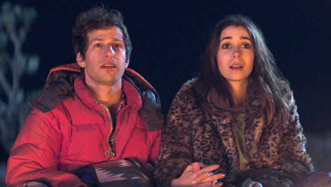 "Andy Samberg and Cristin Milioti star in ""Palm Spring."""