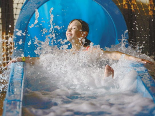 The Cyclone water slide is a fun attraction at The Springs Water Park at Pewaukee's Country Springs Hotel.