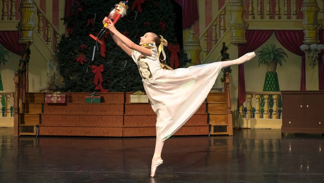 12-year-old Tiffany Hopkins warms up before a rehearsal for 'The Nutcracker' at McMorran Nov. 29. Tiffany has been cast as Clara in this year's production.
