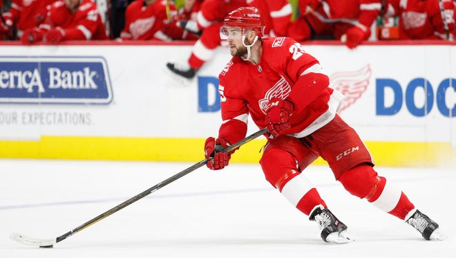 Red Wings defenseman Mike Green (25) is likely to be moved before Feb. 26 trade deadline.