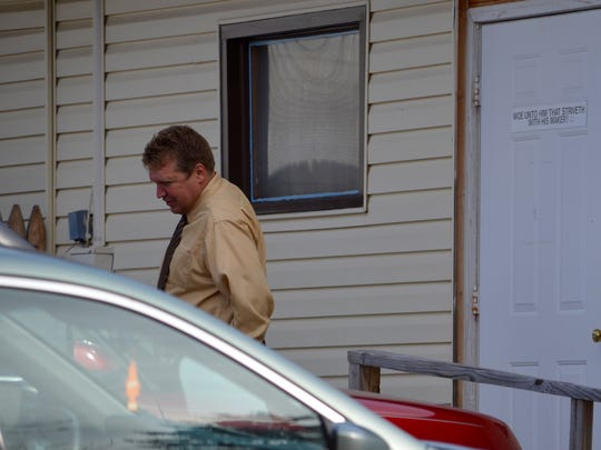 Kirk Parsons, seen leaving Irvington Bible Baptist Church on Sunday, Oct. 25, 2015, faces federal charges pertaining to synthetic marijuana.